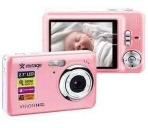 Câmera Digital Mirage Vision, Rosa, Dc086, Tela De 2.7