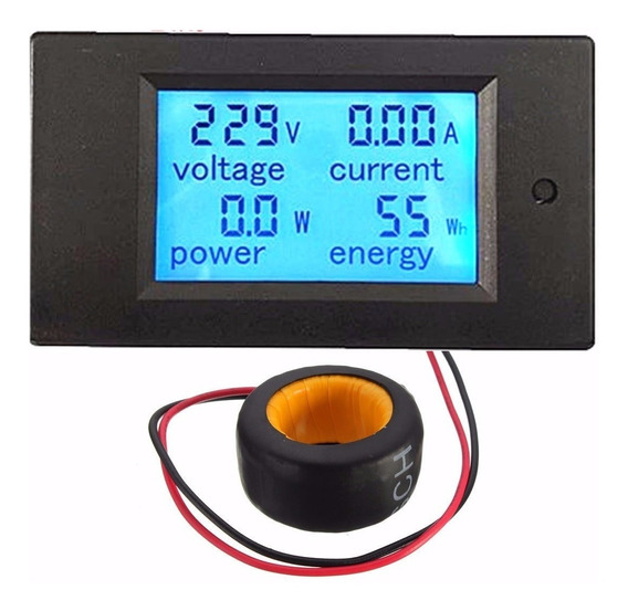 Medidor Digital Ac 80~260v Wattímetro Amperímetro Voltímetro