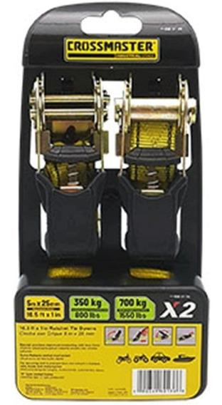 Crique Tensor Crossmaster Suncho Traca 5 Metros X 25 Mm 2 Unidades Con Crique