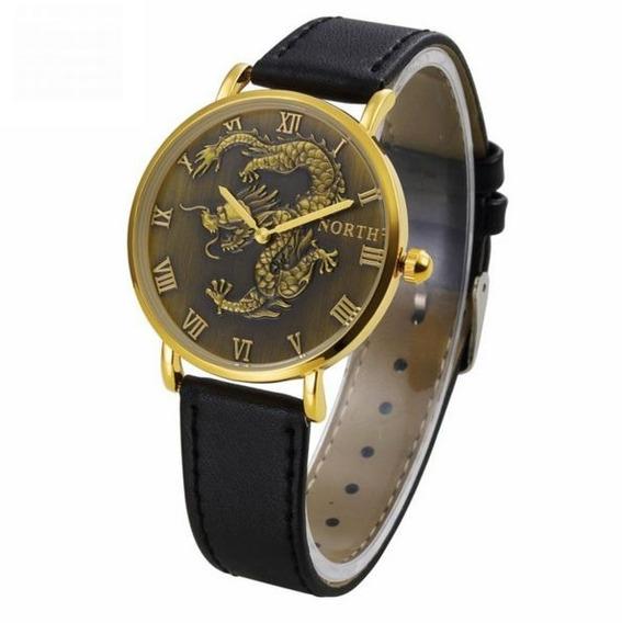 Relógio Dragão Hora Tempo Oriental 4cm