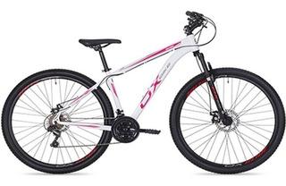 Bicicleta Aro 29 Ox Glide Branco/rosa Pedivela Shimano