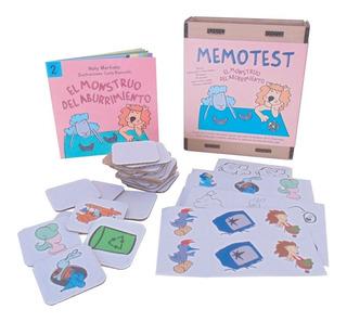 Memotest 40 Pzas Para Pintar + Libro Monstruo Aburrimiento