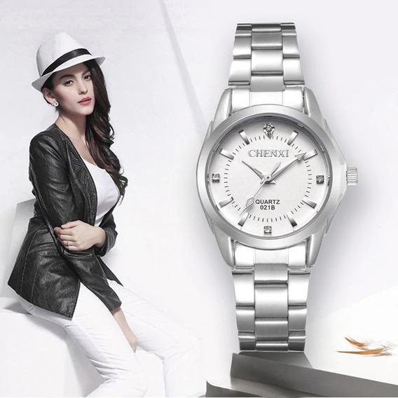 Relógio Feminino De Luxo Em Aço Inox - Cx021b