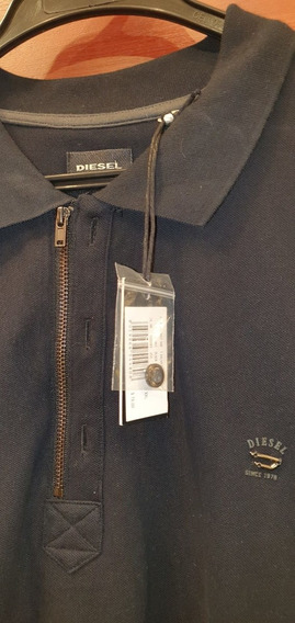 Camiseta Polo Diesel Talla Xxl Original Negro