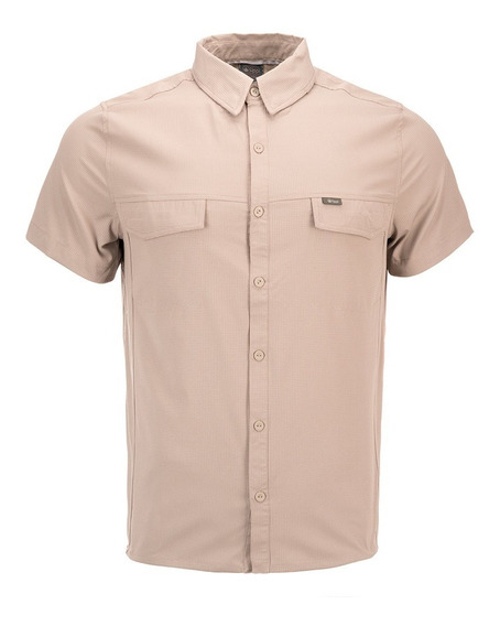 Camisa Hombre Rosselot Q-dry Short Sleeve Shirt Taupe Lippi