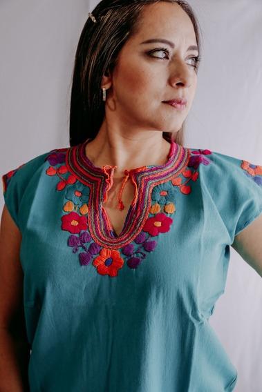Magia Mexica | Blusa Bordada Mexicana | Flores