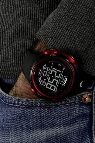 Reloj Head 51mm He-100-04 Rojo/negro Enviogratis!