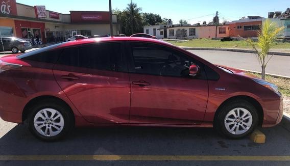 Toyota Prius 2016 T/a 4 Cilindros, 5 Puertas, Color Rojo