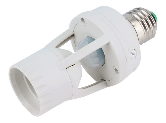 Socket Sensor De Movimiento Regulable Foco Led Ahorrador