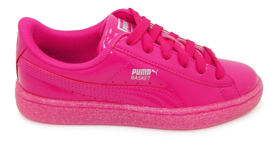 Tenis Puma Basket Patent Iced Glt Jr 362461 01 Betroot Fiush