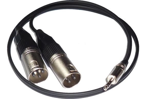Cable Miniplug A 2 Canon Xlr Macho X 3 Mts Profesional