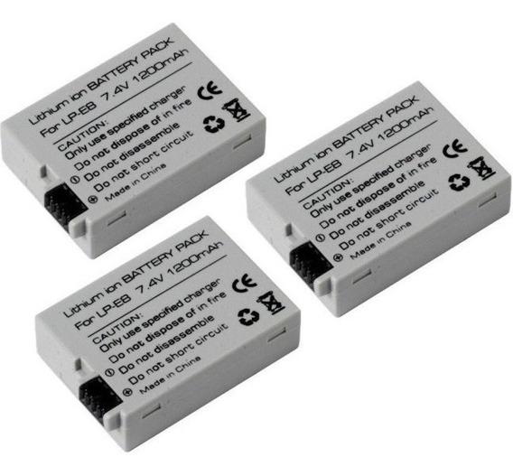 Lote Três Baterias Lp-e8 Para Canon Rebel T3i T4i T5i T2i