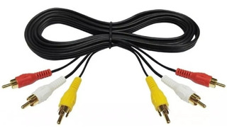 Cable 3 Rca A 3 Rca Av Audio Vídeo Largo Dvd Decodificador