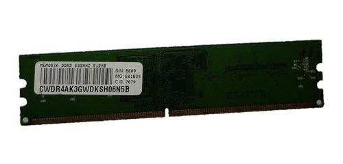 Memória Ddr2 256mb + Ddr2 512mb