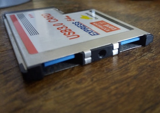 Express Card 54mm Usb 3.0 X2 P/ Notebook Expansión