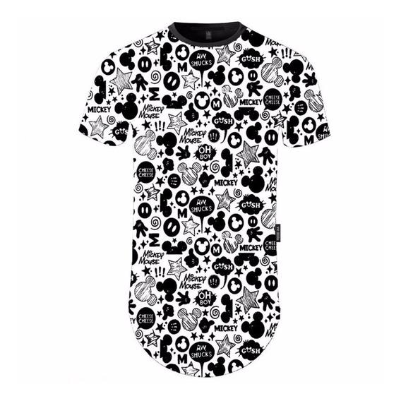 Camiseta Longline Digital Mickey C75 Vcstilo