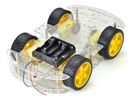 Smart Car 4wd, Kit Chassi, Carro Robô Inteligente, Arduino