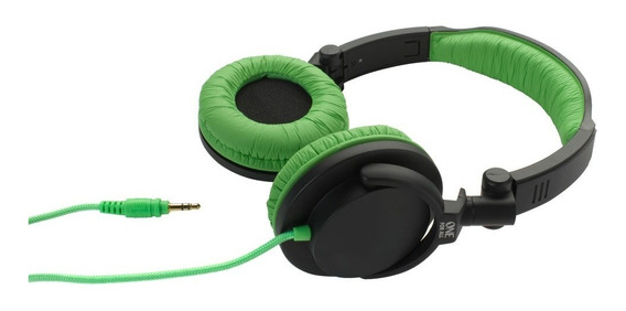 Fone De Ouvido Estilo Dj Sv5612 Preto / Verde One For All
