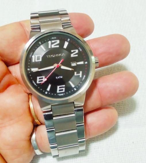 Relógio De Luxo Technos Masculino Prata Original Redondo