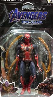 Muñecos Articulados Avengers Spider-man Con Luz