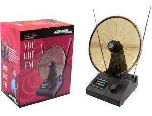 Antena Parabolica Vhf/uhf/fm Interna Mini-uhf Preta Chip Sce