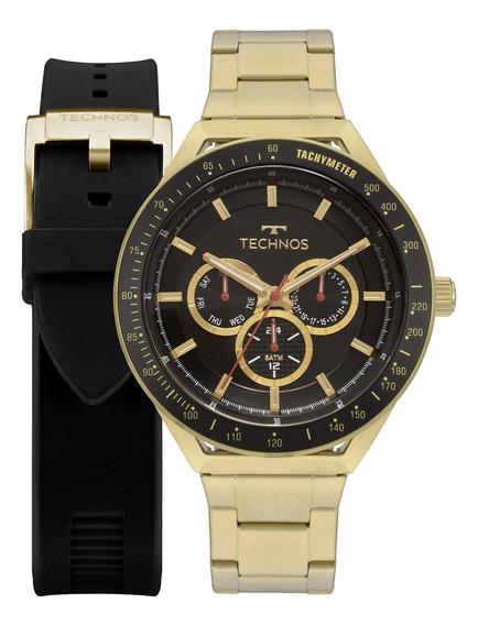 Kit Relógio Technos Masculino 6p29aka/t2p