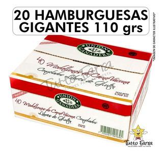 20 Hamburguesas Gigante Unión Ganadera 110