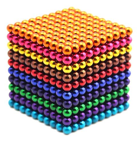 Imagen 1 de 8 de Juego De Bolas Magnéticas De Imán 1000 Piezas De 3 Mm