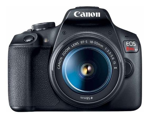 Camera Canon T7 Com Lente 18-55mm, Lacrada Na Caixa Com Nf