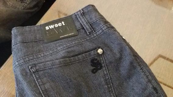 Pantalon De Jean Negro Sweet Talle 32 (40 Cm Cintura)