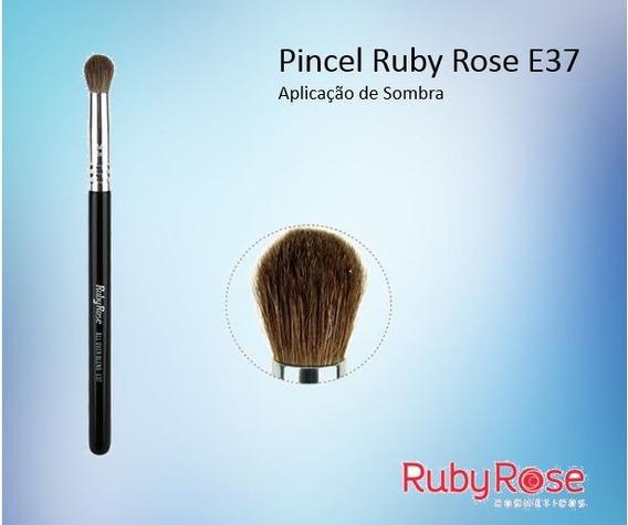 10 Pincel E37 All Over Blend Ruby Rose Kit Com 10un