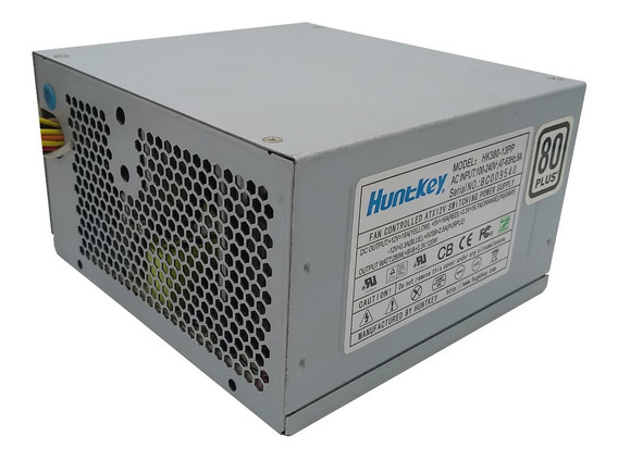 Fonte Atx Huntkey Hk-380 400watts Reais 80plus Branco