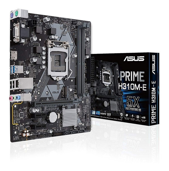 Placa Madre Motherboard Asus Prime H310m E R2.0 Intel Lga1151 M.2 Ssd 8va Generacion Gtia Oficial