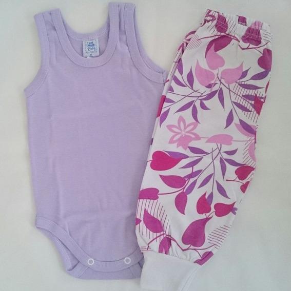 Kit De Blusa Ou Body Com Calça Para Bebê Menina