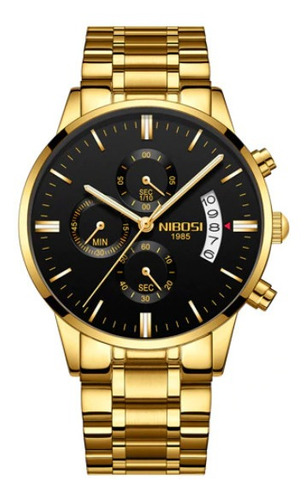 Relógios Masculinos Nibosi Clássico 2309 Funcional Garantia