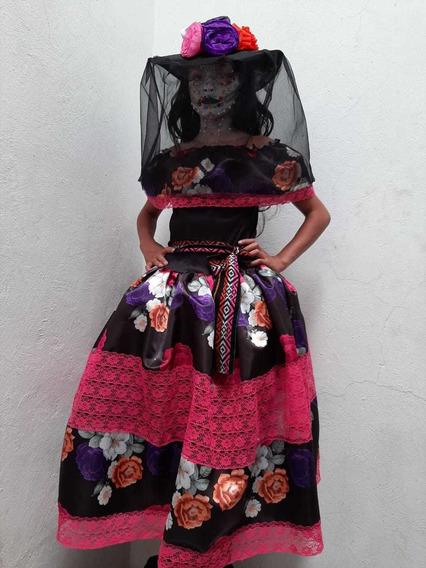 Vestidos De Catrinas Disfraces Y Sombreros Ninas Recuerdos