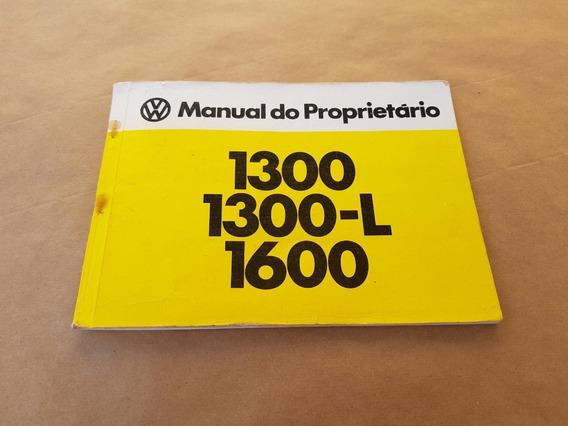 Manual Proprietário Fusca 1975 1981 1300 L 1600 Original Vw