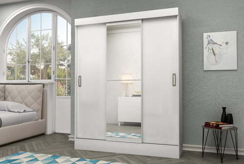 Ropero 3 Puertas Corredizas Espejo - Placard Dormitorio