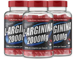 L-arginina 500mg 3 X 120 Cápsulas Lauton Nutrition