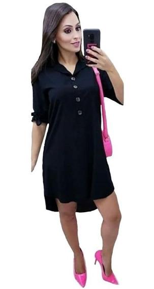 Vestido Feminino Plus Size Chemise Viscolinho P Ao G3 Roupas