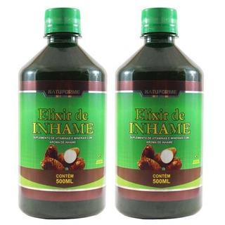 2 Elixir De Inhame 500ml Ovulação Energia Desintoxicação