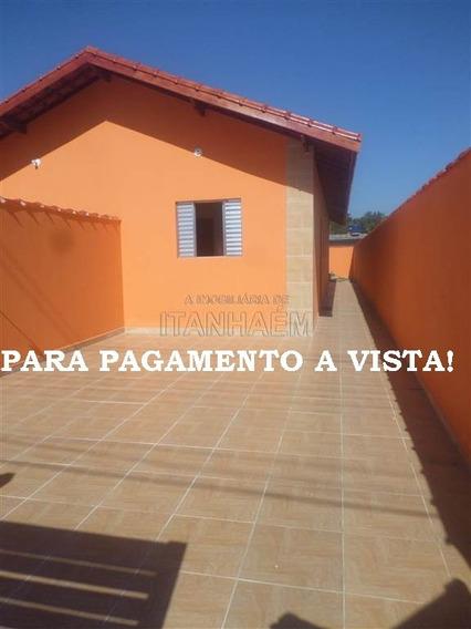 Casa Nova, 2 Dorms, Para Venda A Vista Em Itanhaém.
