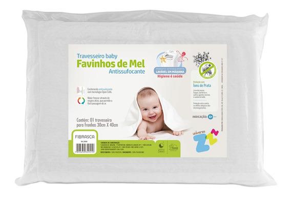 Travesseiro Favinhos De Mel Antissufocante Baby Fibrasca