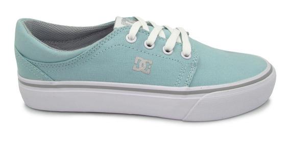 Tenis Dc Shoes Womens Trase Tx Adjs300078 Bm5 Blue Mist