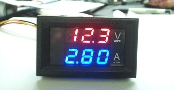 Medidor Voltagem E Amperes Som Carro Bateria Painel Hi Volt