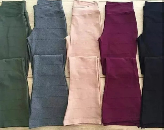 Calca Feminina Bandagem Flare Material Grosso Inverno 2019