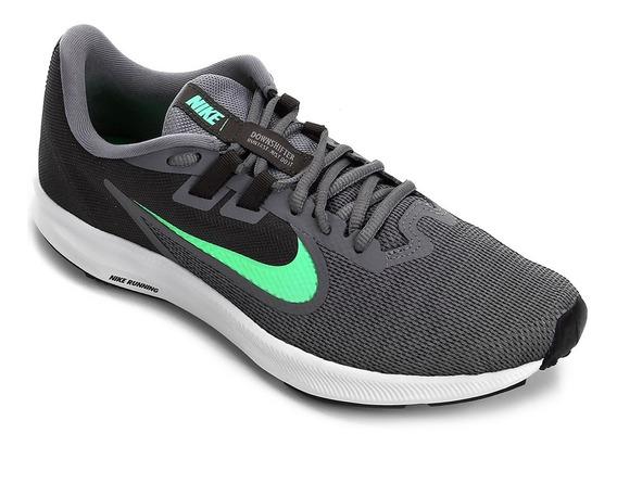 Tênis Nike Downshifter 9 Masculino - Cinza E Verde