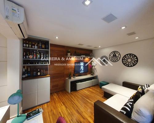 Apartamento A Venda 101m² Gardem, 2 Dormitórios, Sala 2 Ambientes, Quintal Privativo, Fino Acabamento. 5 Minutos Metrô Campo Limpo. Jardim Casa Blanca - Ap00155 - 69027741