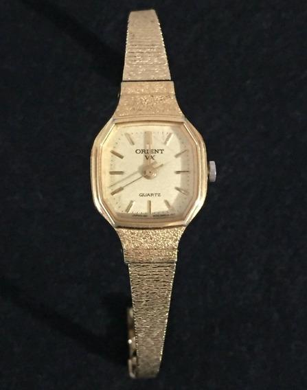 Relógio Orient Dourado Feminino Original Ouro Usado