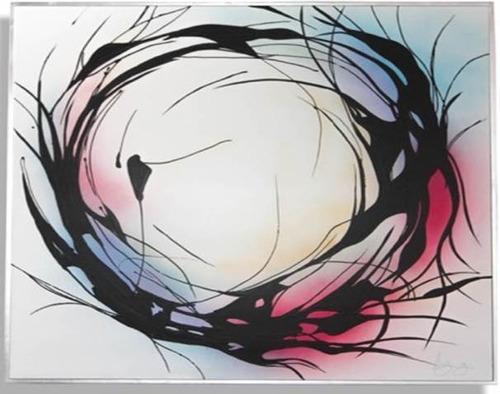 Imagen 1 de 4 de Cuadro Decorativo Círculo De Colores Këssa Muebles